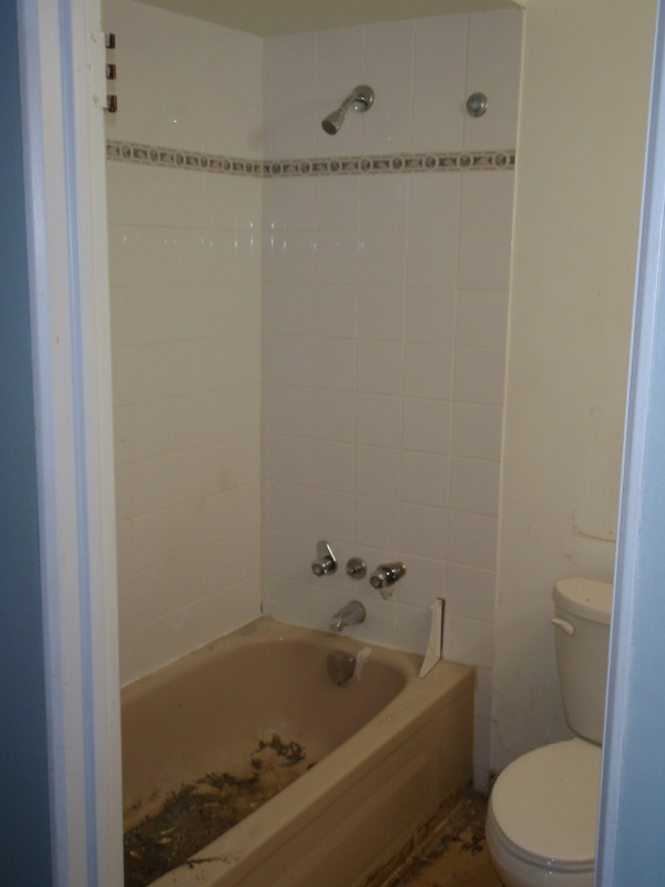 The bathroom before Green Coast. Time for an upgrade?