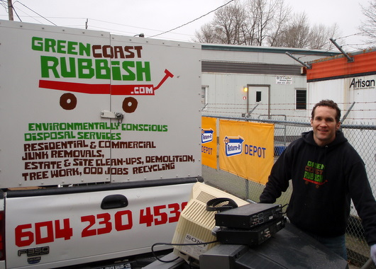 Recycling electronics and TV\'s at Encorp\'s \'Return-it\' Depot in North Vancouver
