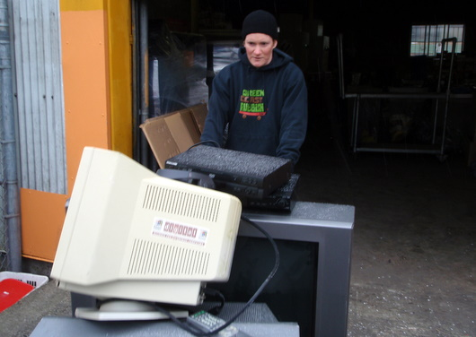 A full load of TV\'s and electronics en route for recycling