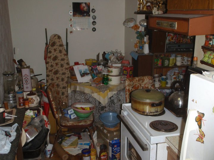 A not so tidy kitchen