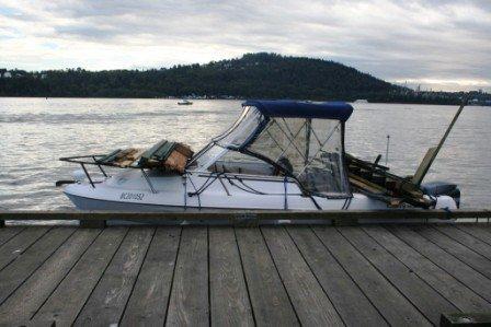 Fully load boat