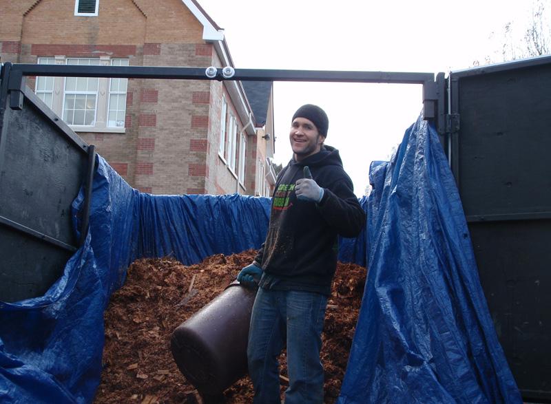 Eamonn loading the truck