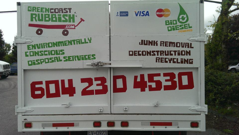 The rear view of our Biodiesel truck.