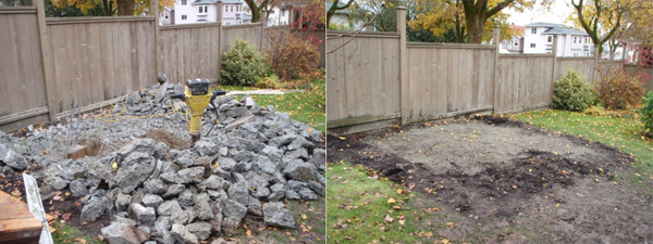 Cement removal and recycling-the before and after