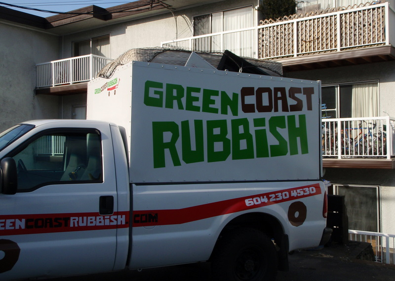 A full load of junk for our Green Coast Rubbish Truck