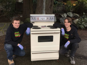 stove removal and recycling by the junk removal team