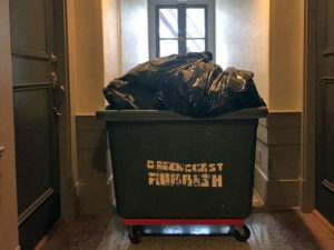 junk removal cart in a building in vancouver