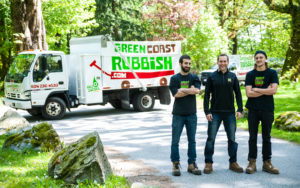 the green coast rubbish junk removal team onsite in vancouver