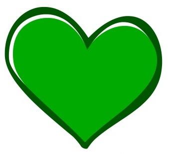 Green Coast Rubbish Hearts