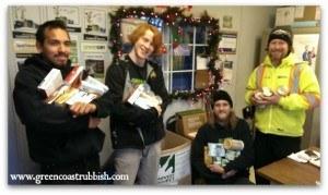 Green Coast Rubbish Food Bank Donation