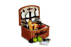 Purchasing a quality reusable picnic basket complete with cultery, plates, glasses, cloth napkins etc to use year after year for your summer picnics can be a great idea.