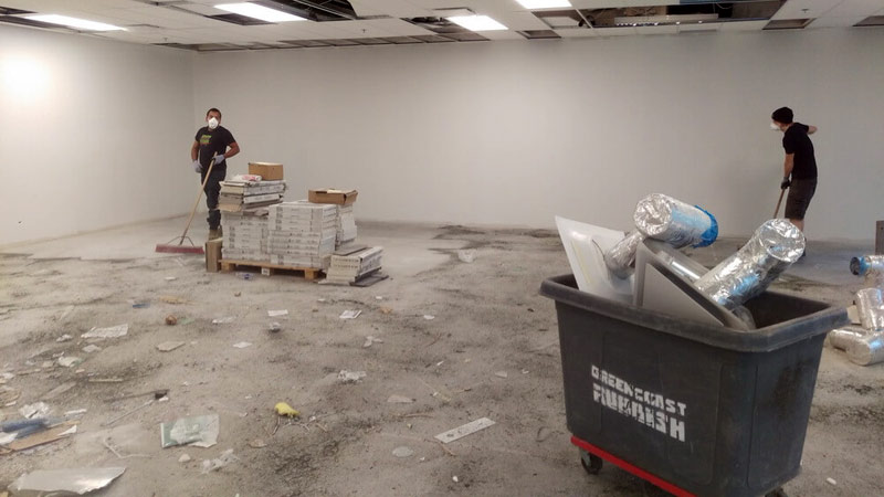 commercial deconstruction - deconstructing an office