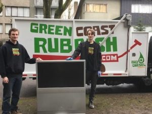 television recycling - junk removal team
