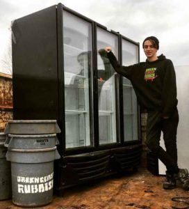 commercial junk removal - fridge recycling